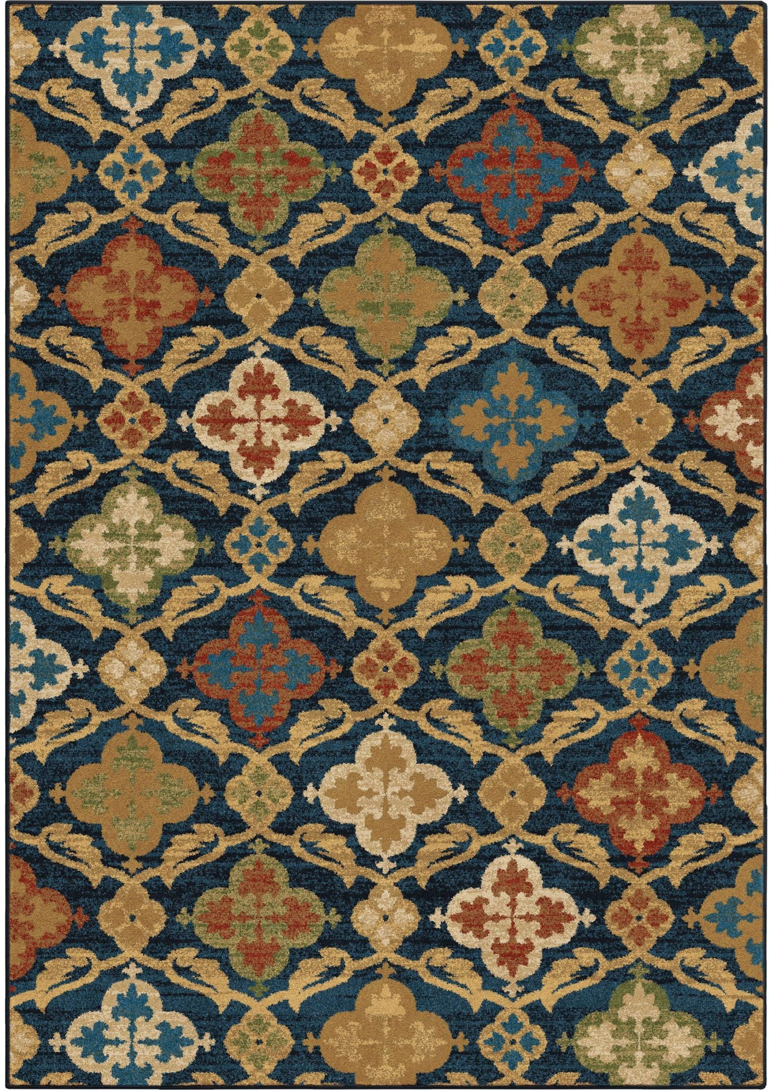 Bright Rugs Orian Rugs Bright Color Medallion Tuscan Field Blue Area