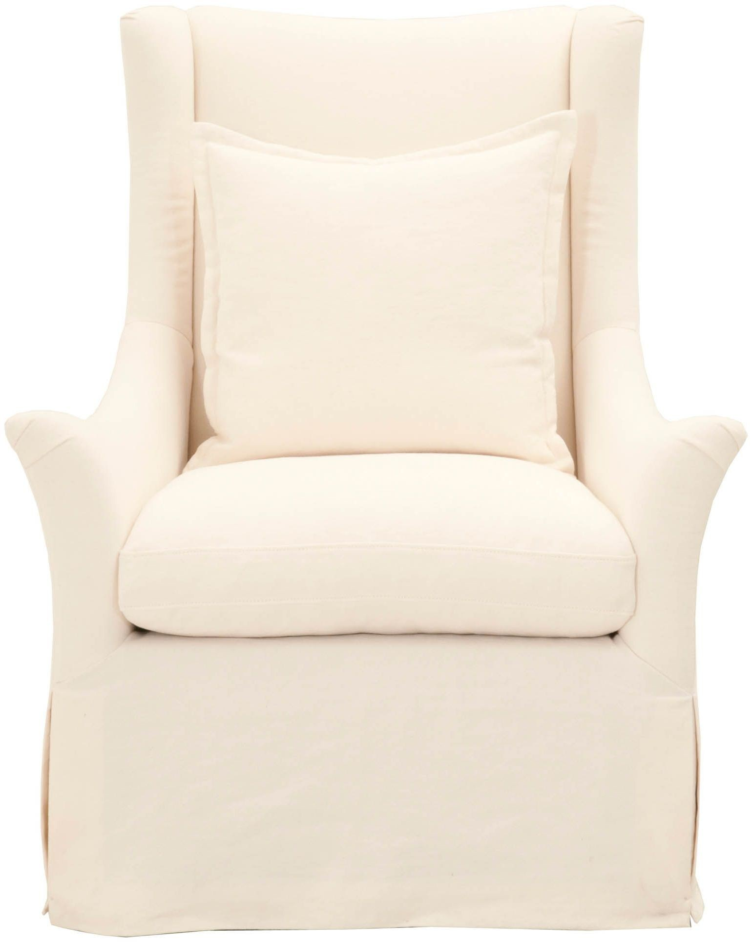 Etagere Otto Stitch And Hand Cream Crepe Otto Slipcover Swivel Club Chair