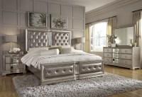 Couture Silver Panel Bedroom Set, P022170-71-72, Pulaski