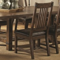 Padima Rustic Leather Dining Side Chair Set of 2 from ...