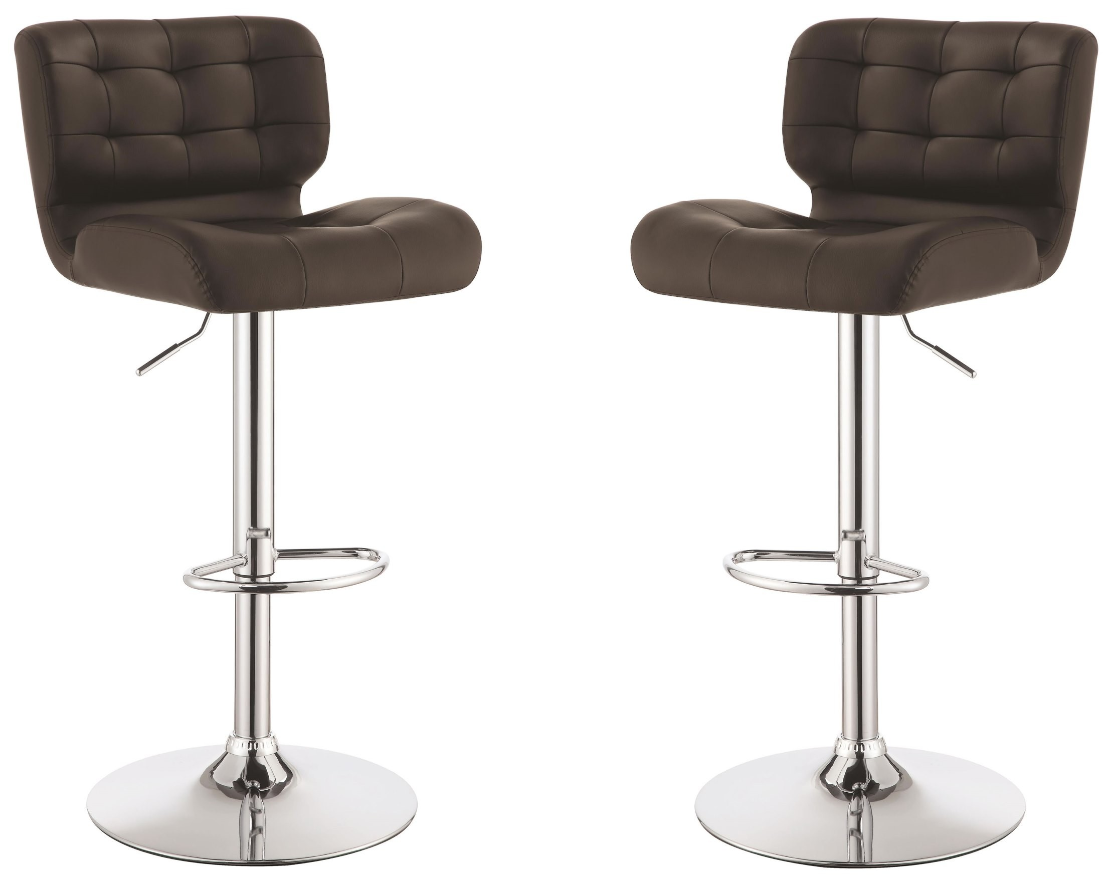 Brown Adjustable Bar Stool Brown Adjustable Bar Stool Set Of 2 From Coaster 100544