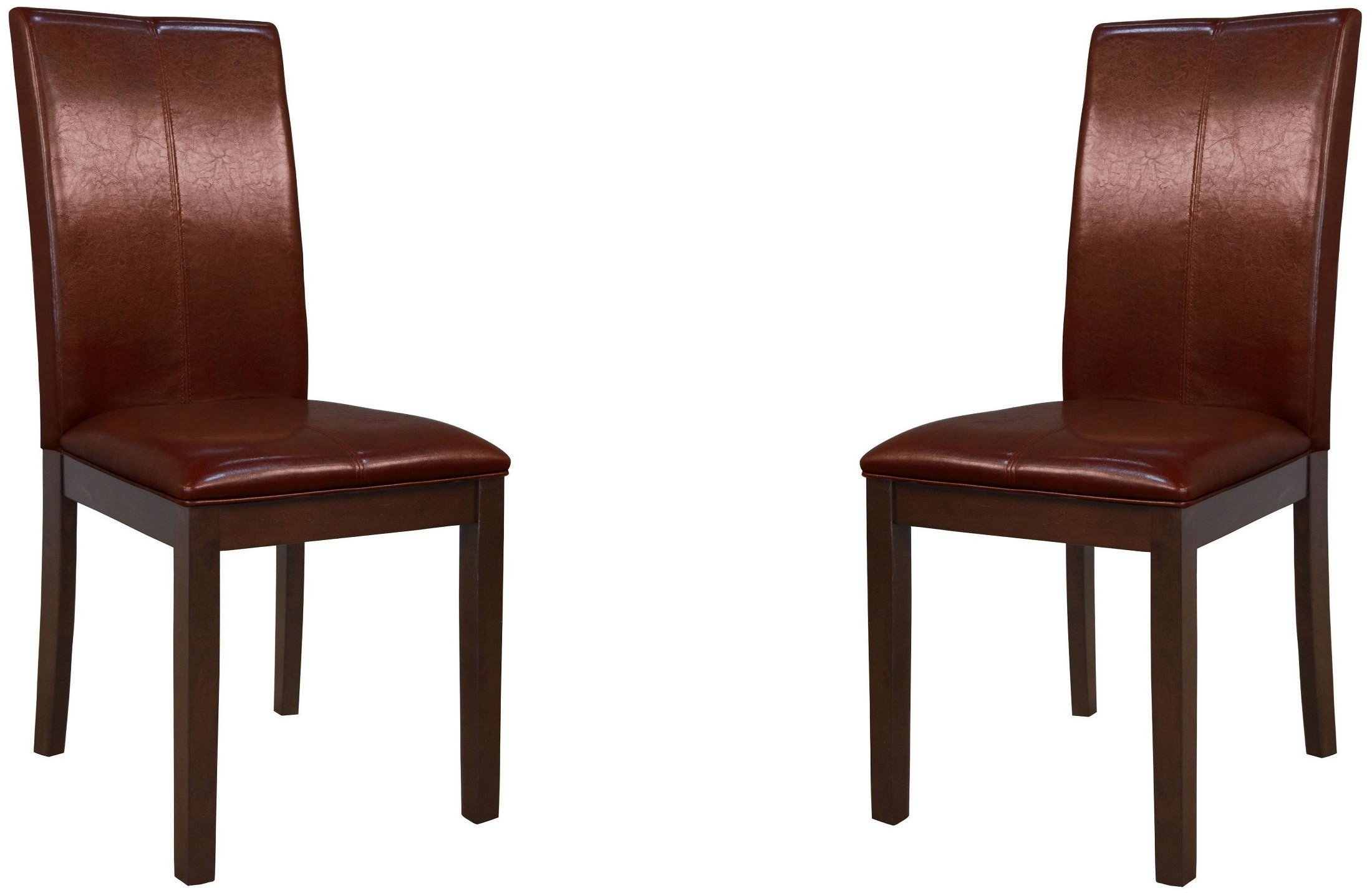 Parson Red Curved Back Dining Chair Set Of 2 From A