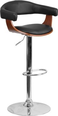32384 Walnut Bentwood Adjustable Height Bar Stool from ...
