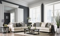 Percey Off-White Living Room Set, SM1278-SF, Furniture of ...