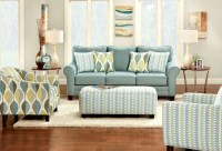 Brubeck Soft Teal Living Room Set from Furniture of ...