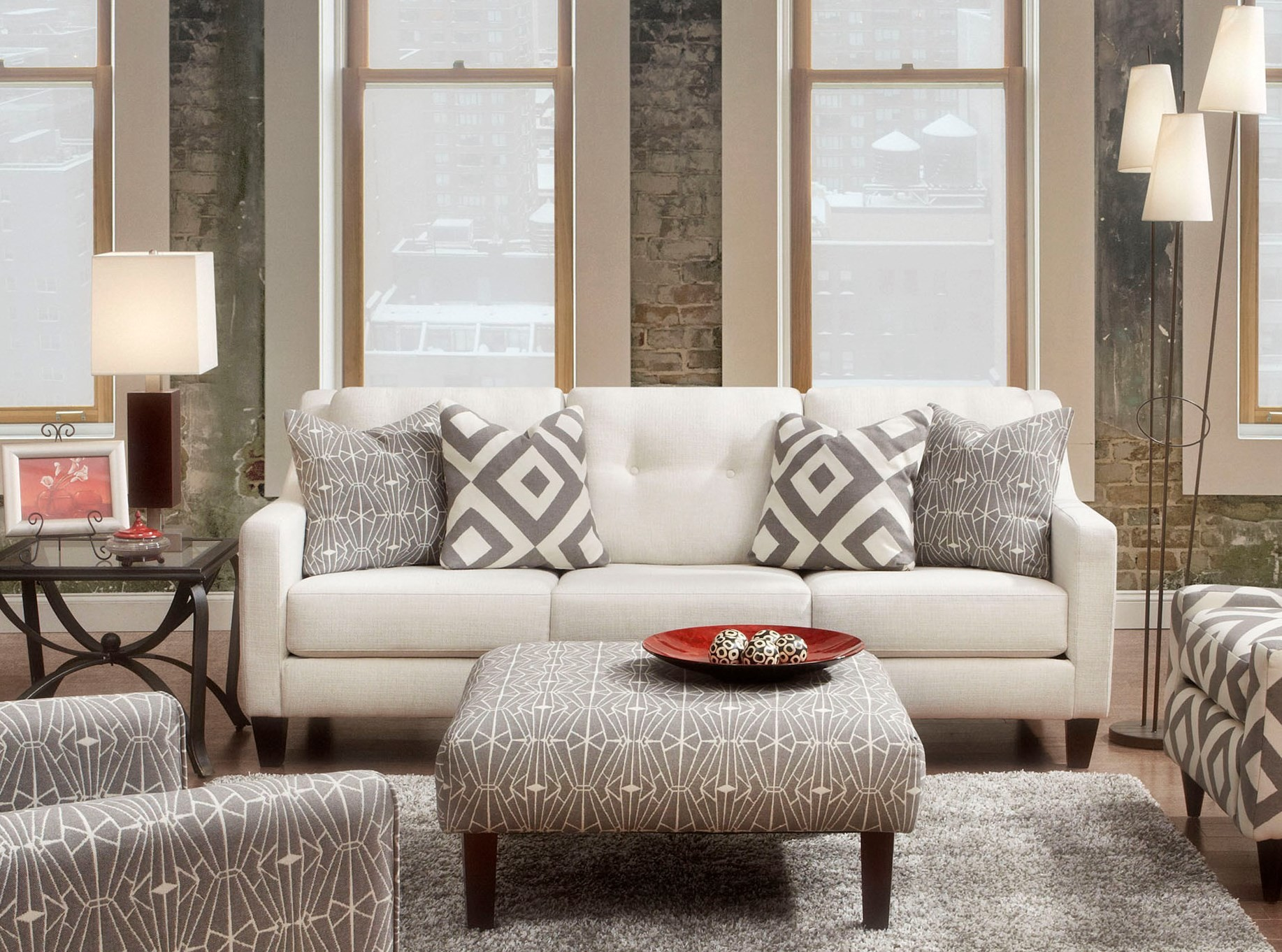 Living Room Furniture Ivory Sofa Parker Ivory Living Room Set From Furniture Of America