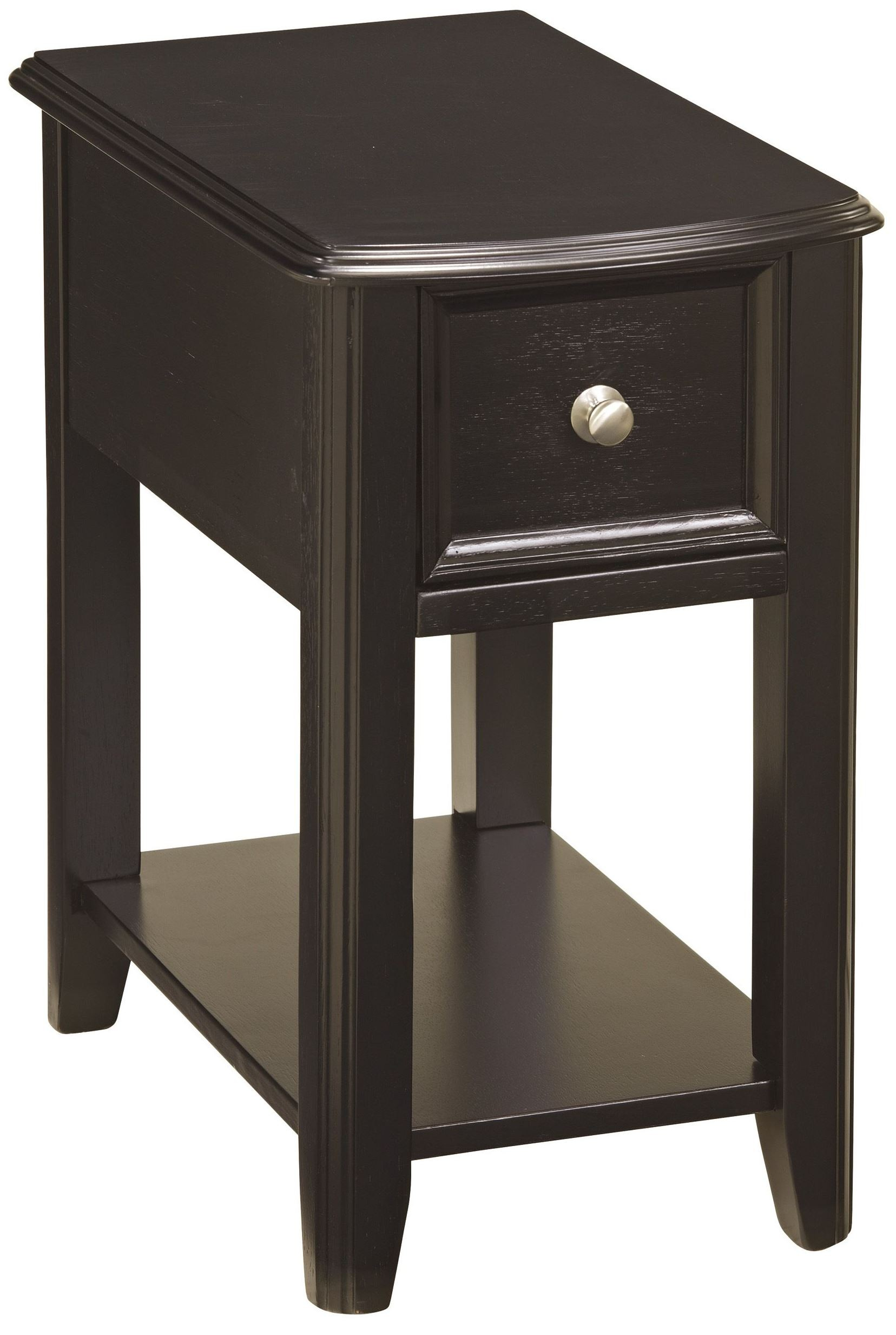 Black Side Table Chairside End Program Chair Side Black End Table From
