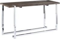 Kieran Charcoal & Chrome Rectangular Sofa Table from ...