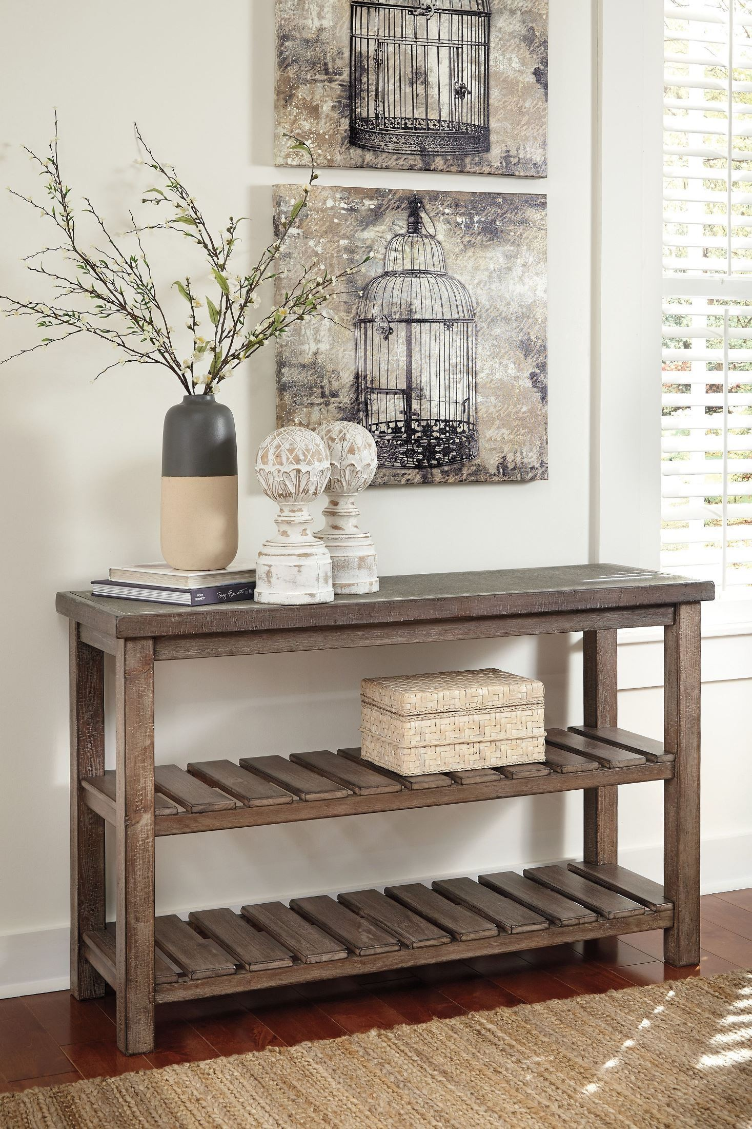 Narrow Console Table Australia Vennilux Sofa Table From Ashley T500 104 Coleman Furniture