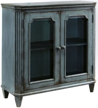 Mirimyn Antique Teal Accent Cabinet from Ashley | Coleman ...