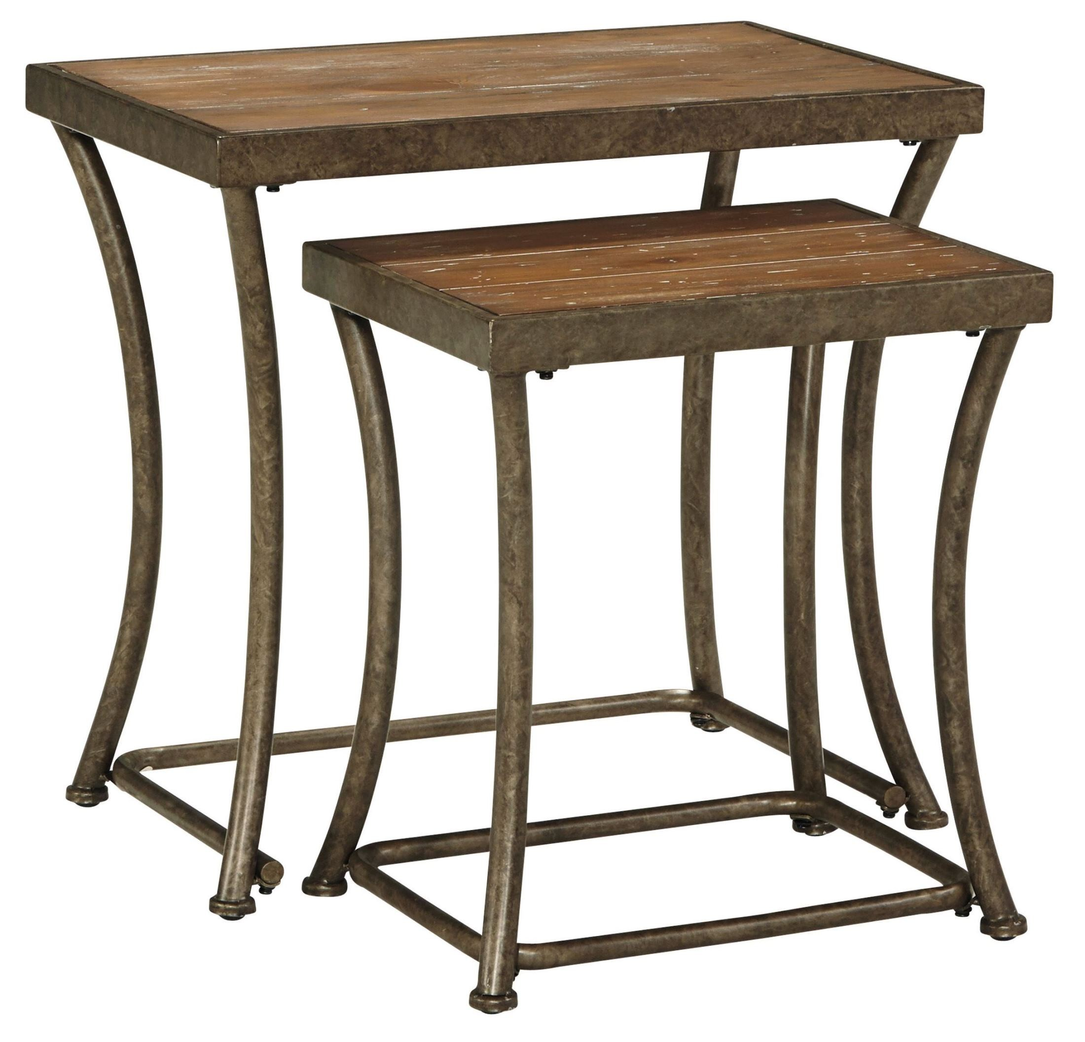 Stacking End Tables Nartina Nesting End Tables Set Of 2 From Ashley T805 16