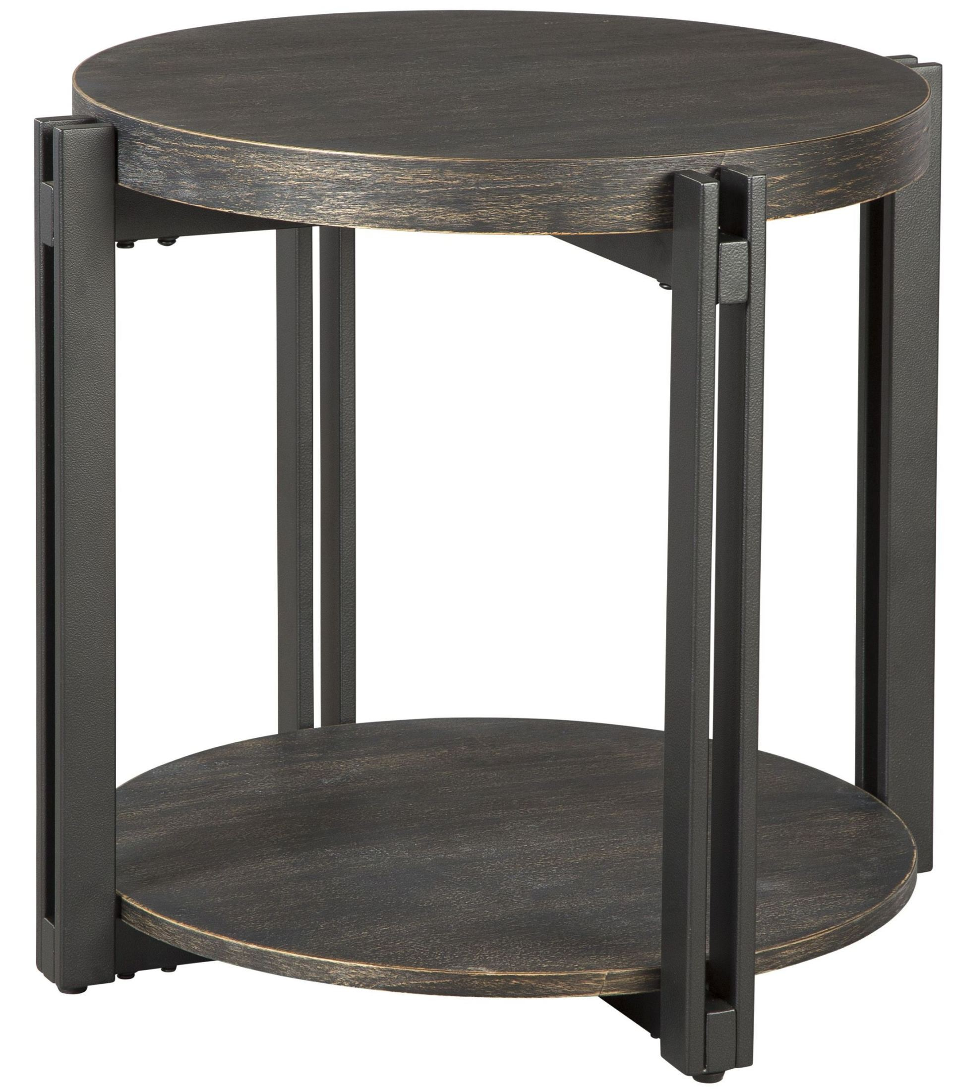Circular End Tables Winnieconi Black Round End Table T857 6 Ashley