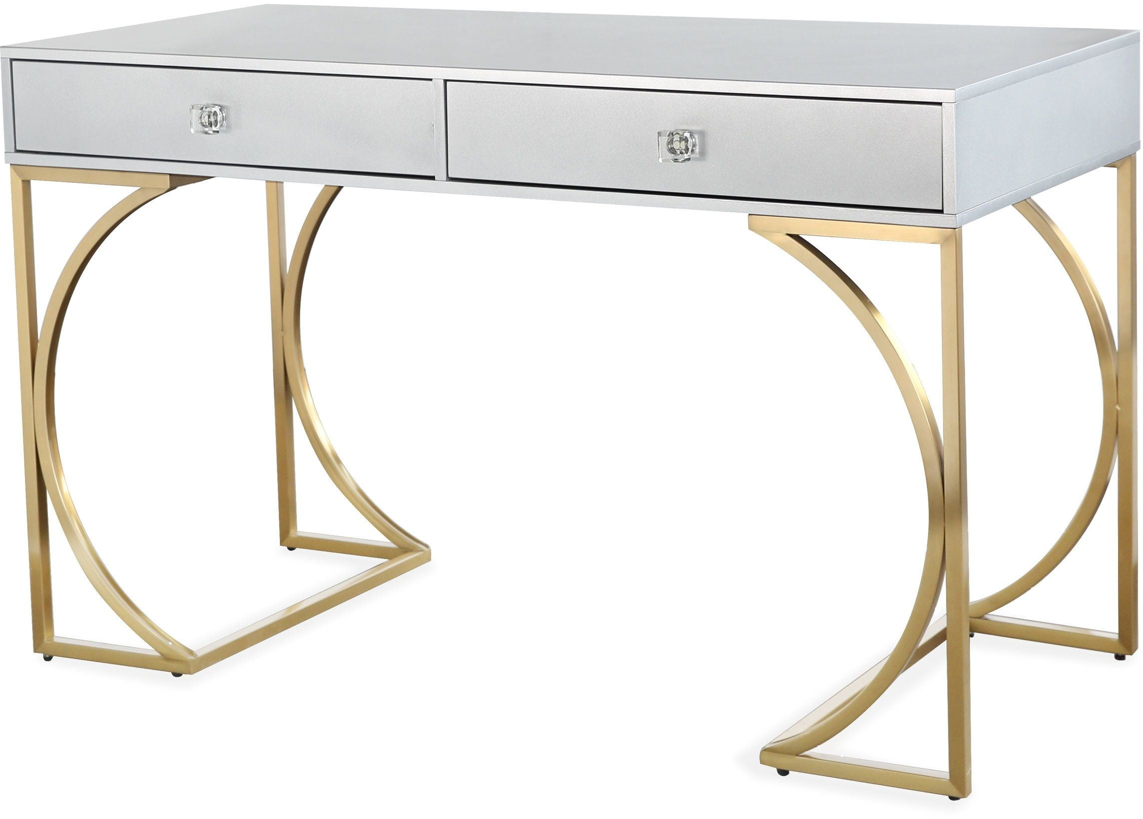 White And Gold Desk Chair Lexie Gray And Gold Desk From Tov Coleman Furniture