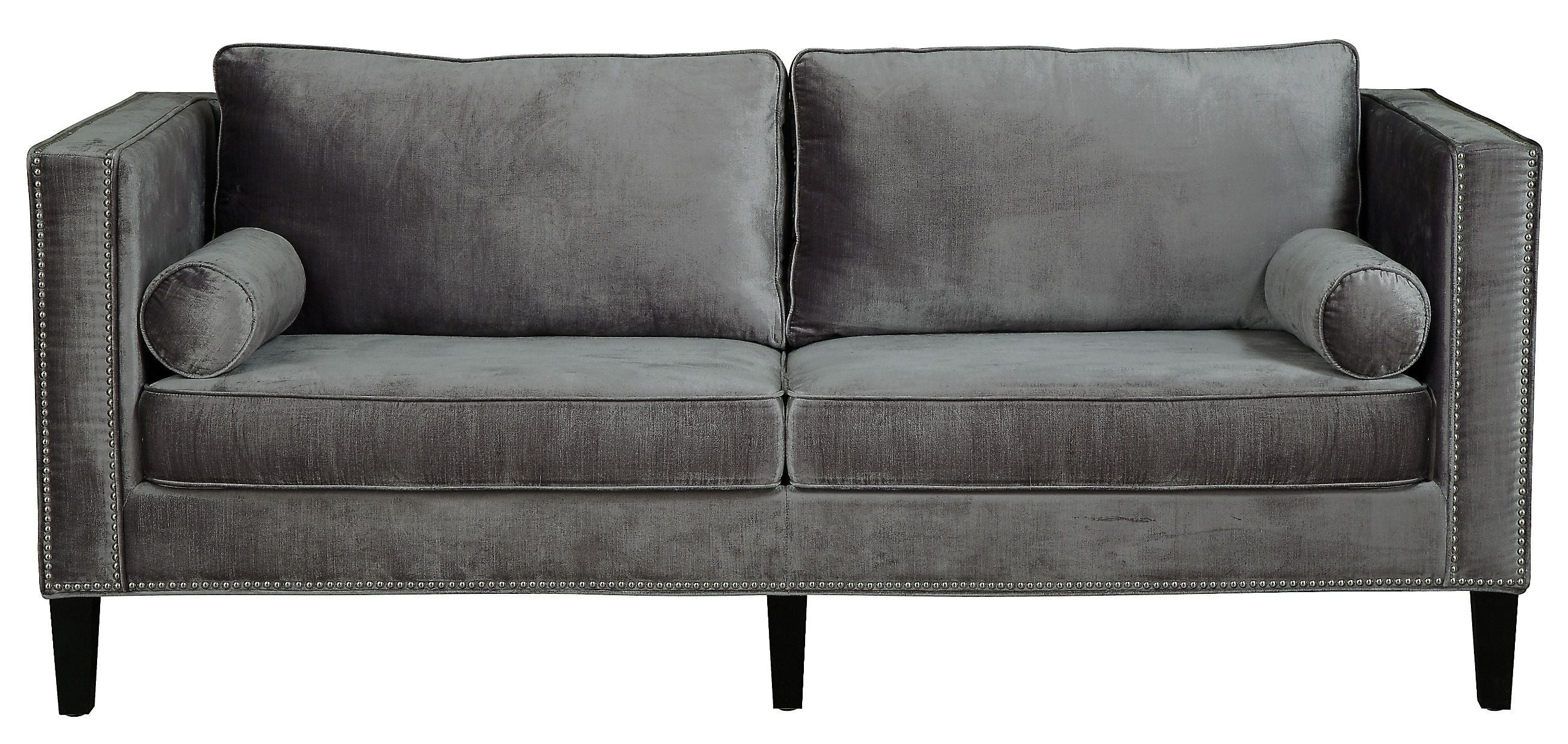 Grey Velvet Sofa Cooper Grey Velvet Sofa From Tov (s29) | Coleman Furniture