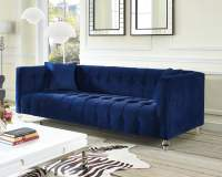 Bea Navy Velvet Sofa from TOV (TOV-S85) | Coleman Furniture