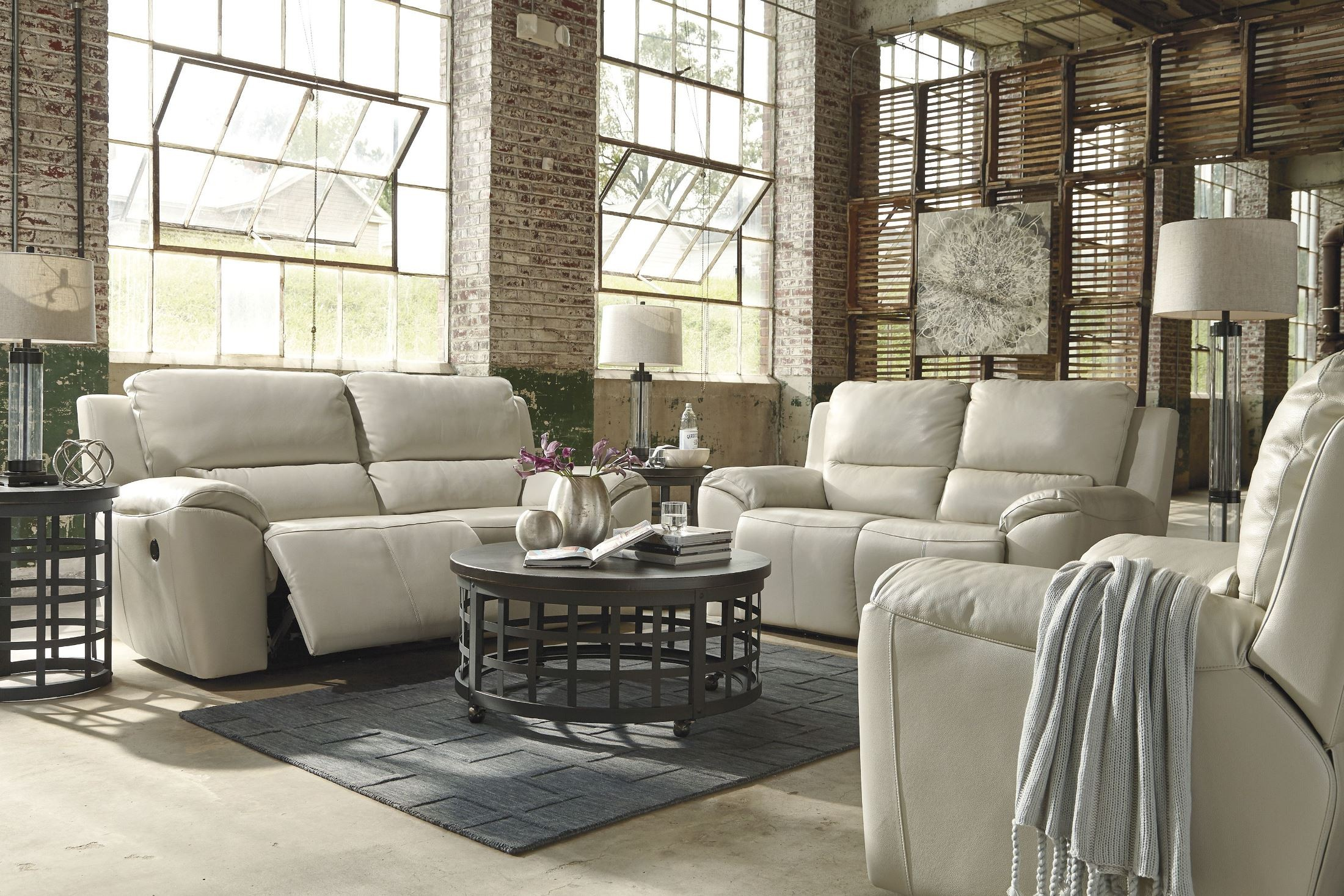 Sofa Set Offer Up Valeton Cream Power Reclining Living Room Set From Ashley