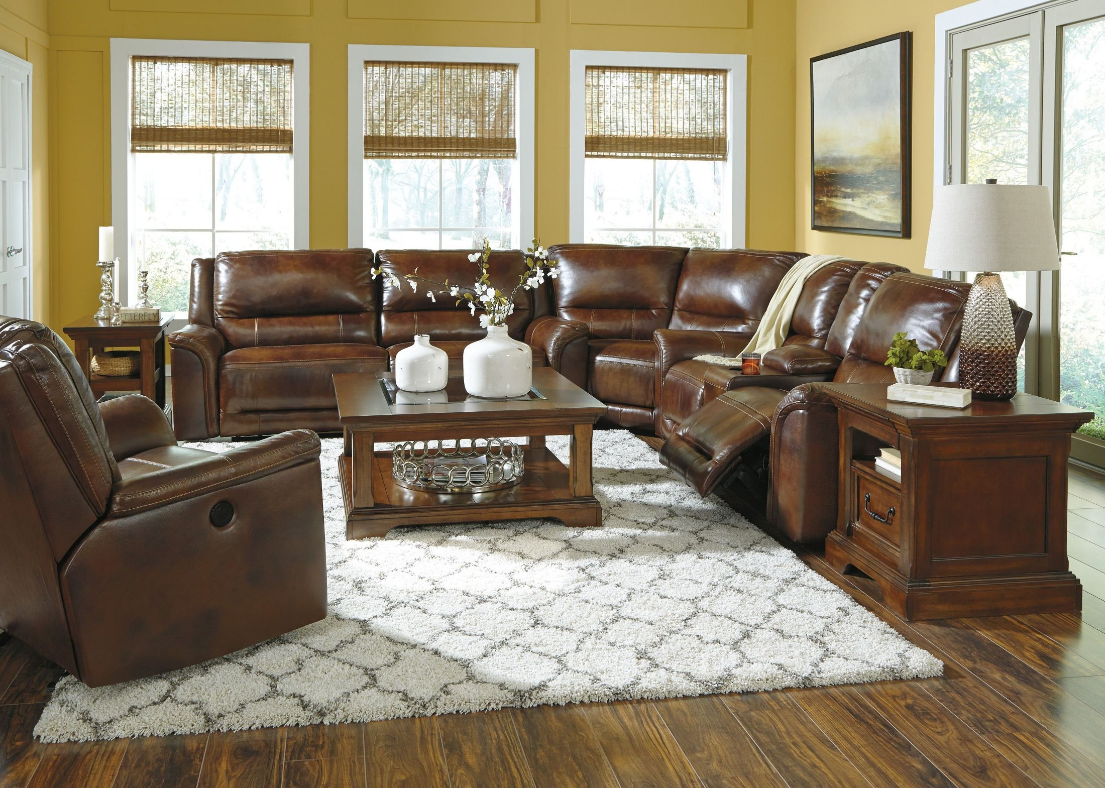 Sofa Set Offer Up Jayron Harness Reclining Sectional From Ashley U76600 81