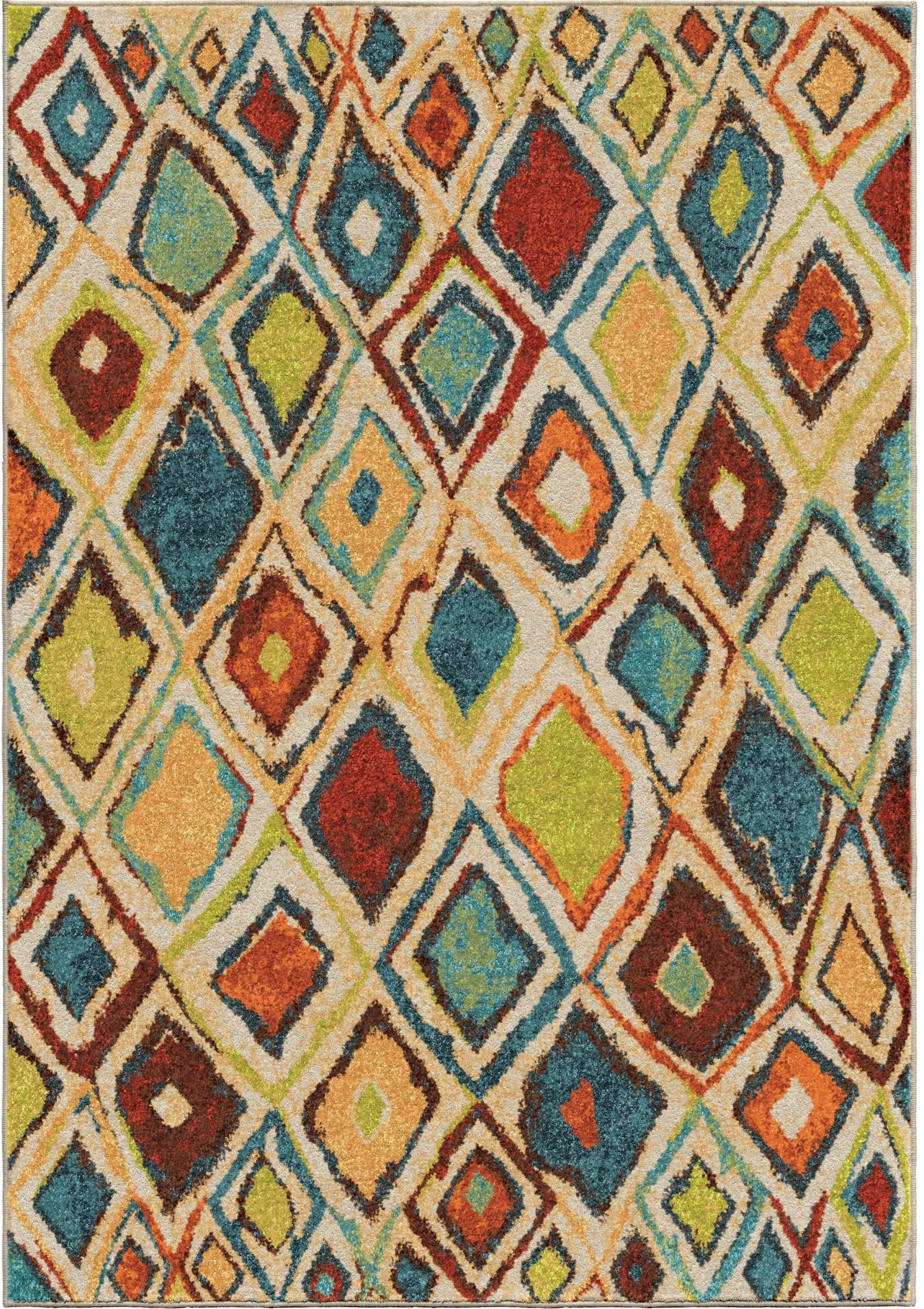 Bright Rugs Orian Rugs Bright Color Geometric Nabalis Multi Area