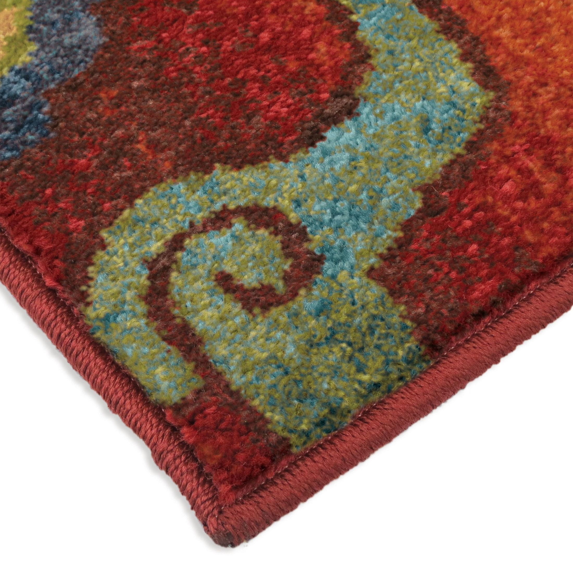 Bright Rugs Orian Rugs Bright Color Floral Tibet Red Area Large Rug