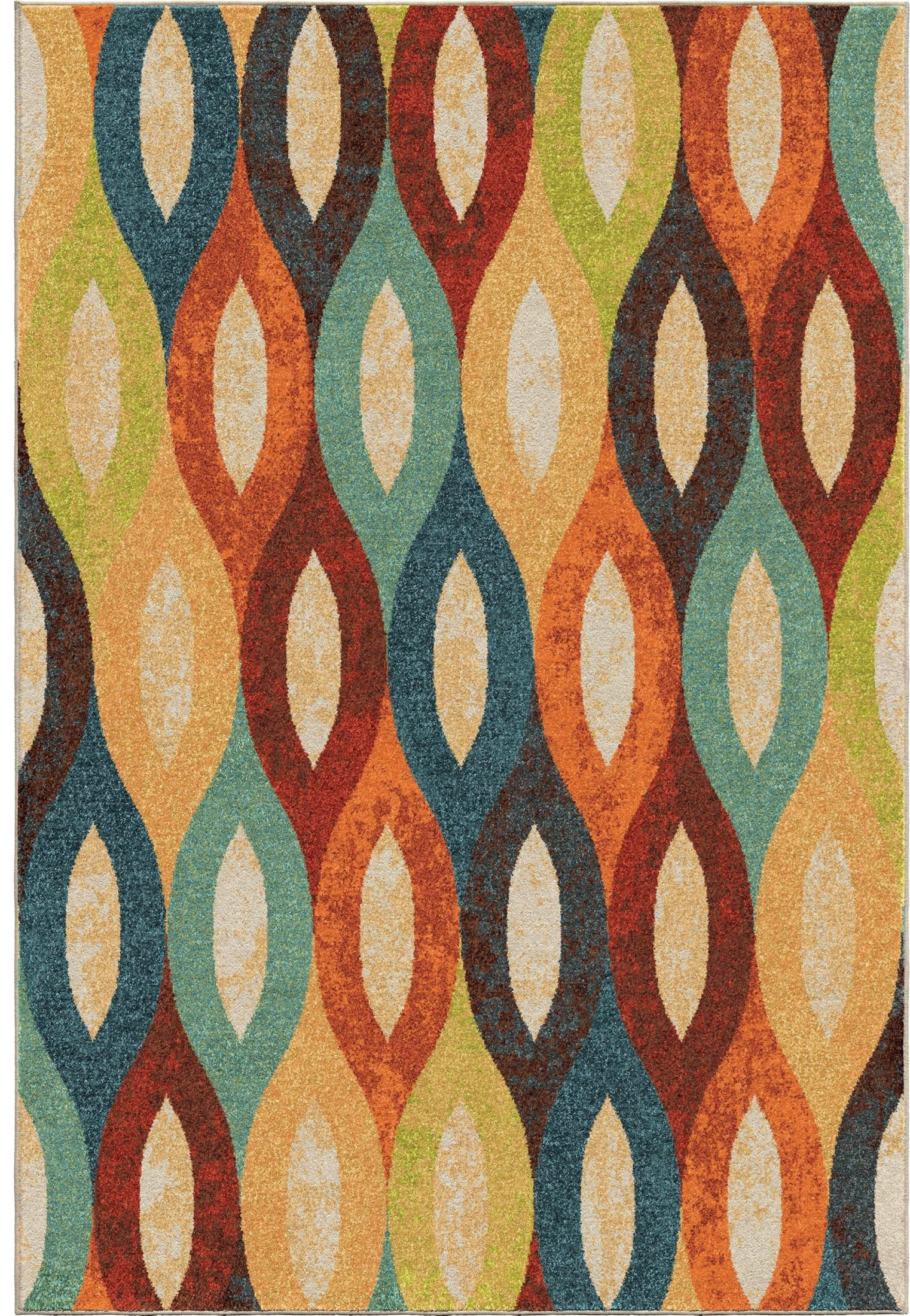 Bright Rugs Spoleto Bright Color Ovals Britwick Multi Large Area Rug