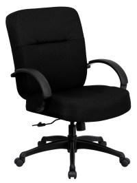 Hercules Series Big & Tall Black Fabric Arm Office Chair ...