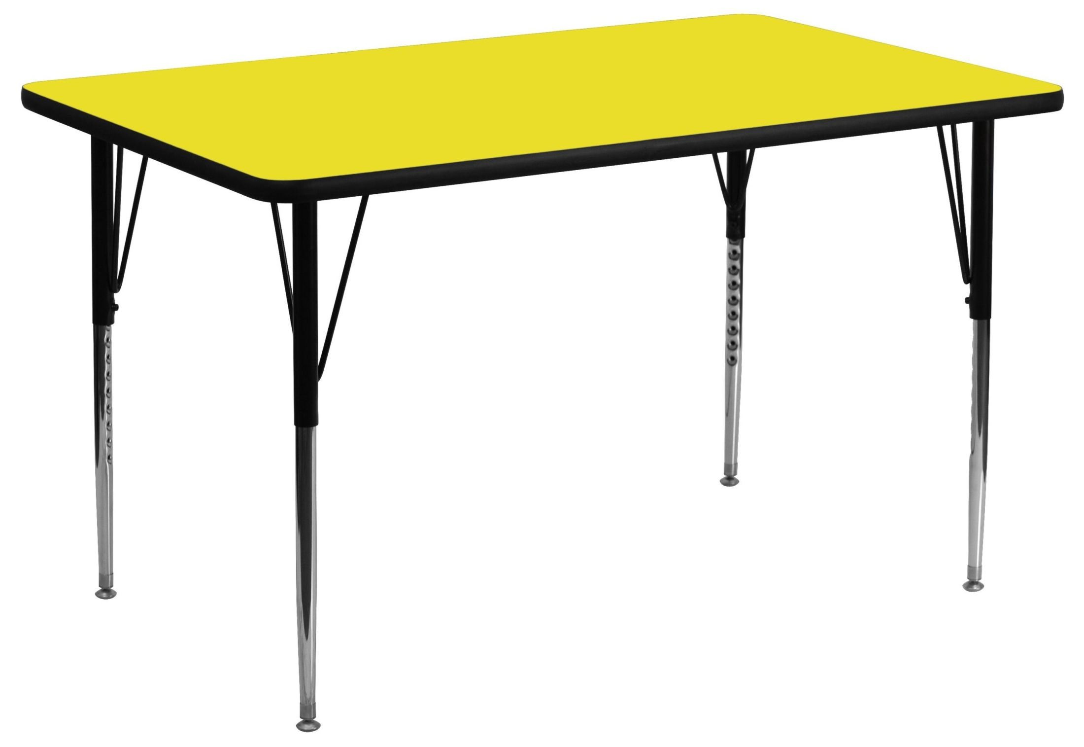 Adjustable Height Activity Table 24 Quot Rectangular Adjustable Height Yellow Activity Table