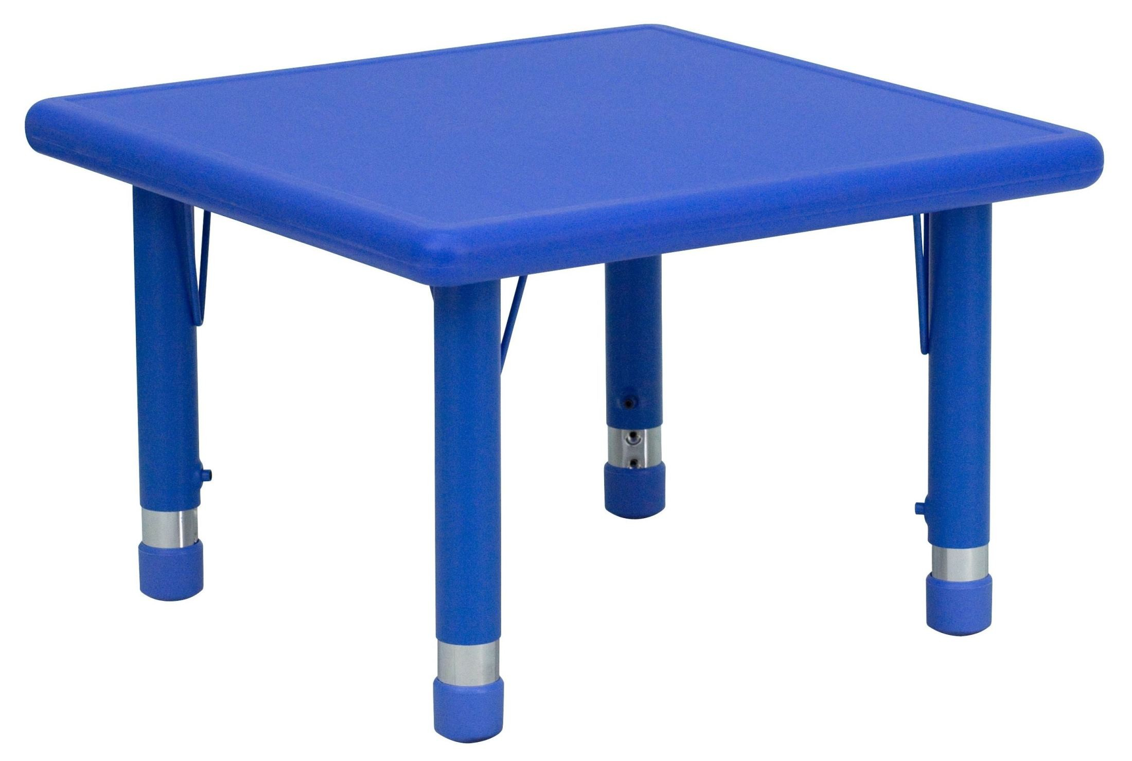 Adjustable Height Activity Table 24 Quot Square Height Adjustable Blue Plastic Activity Table