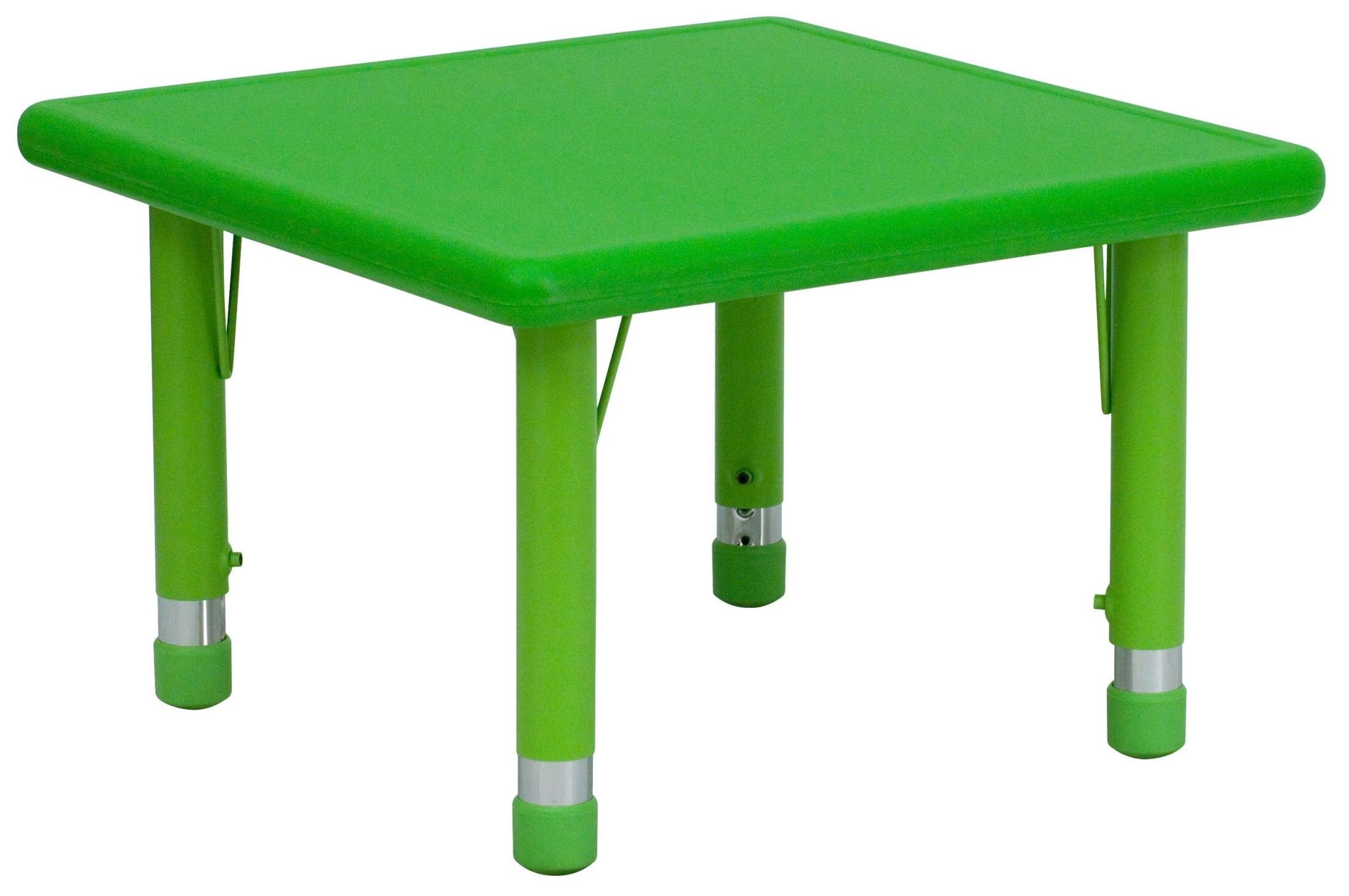 Adjustable Height Activity Table 24 Quot Square Height Adjustable Green Plastic Activity Table