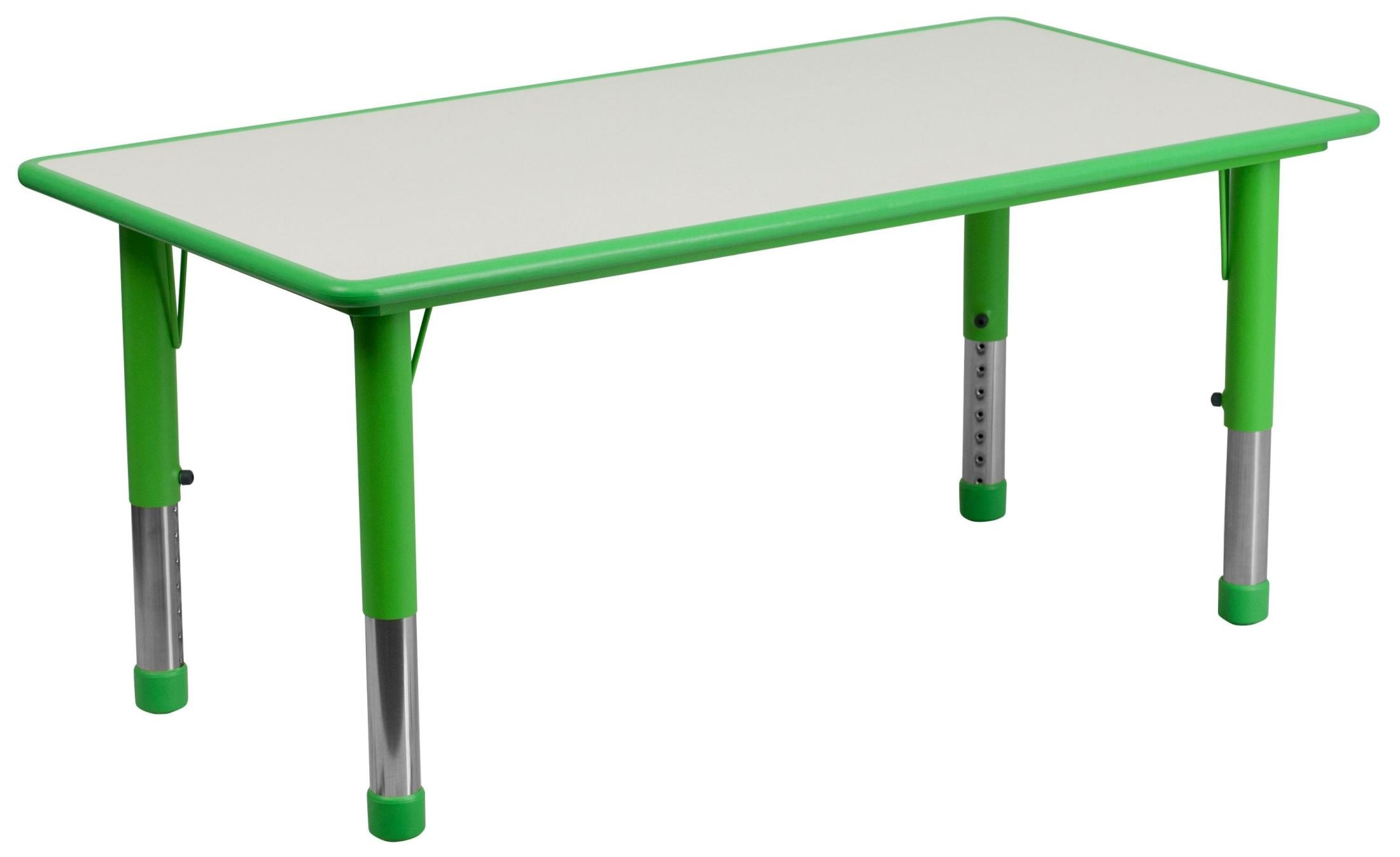 Adjustable Height Activity Table 47 25 39 39 Adjustable Height Rectangular Green Plastic