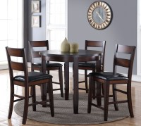 """Rockport Brown 42"""" Round Counter Height Dining Room Set ..."""