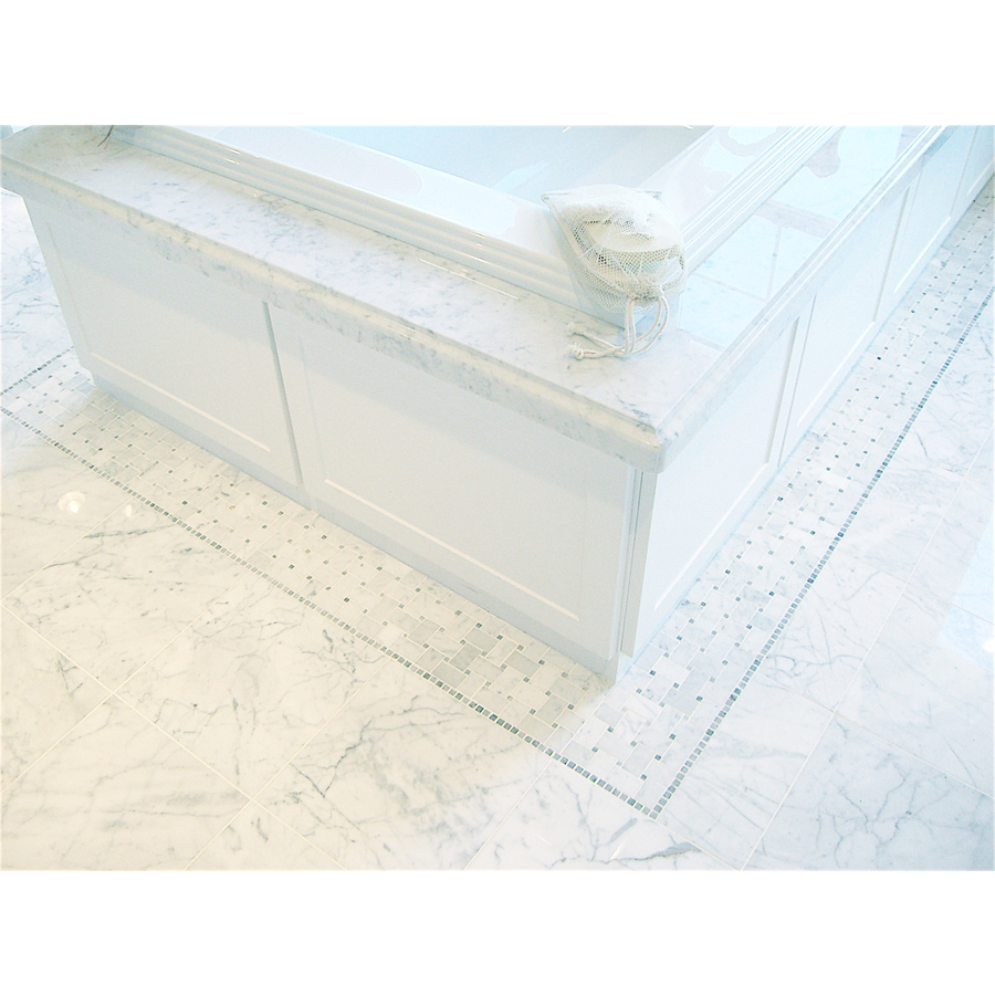 Faber 12 In X 24 In Carrara Extra Marble Floor Tile Lowe S Canada