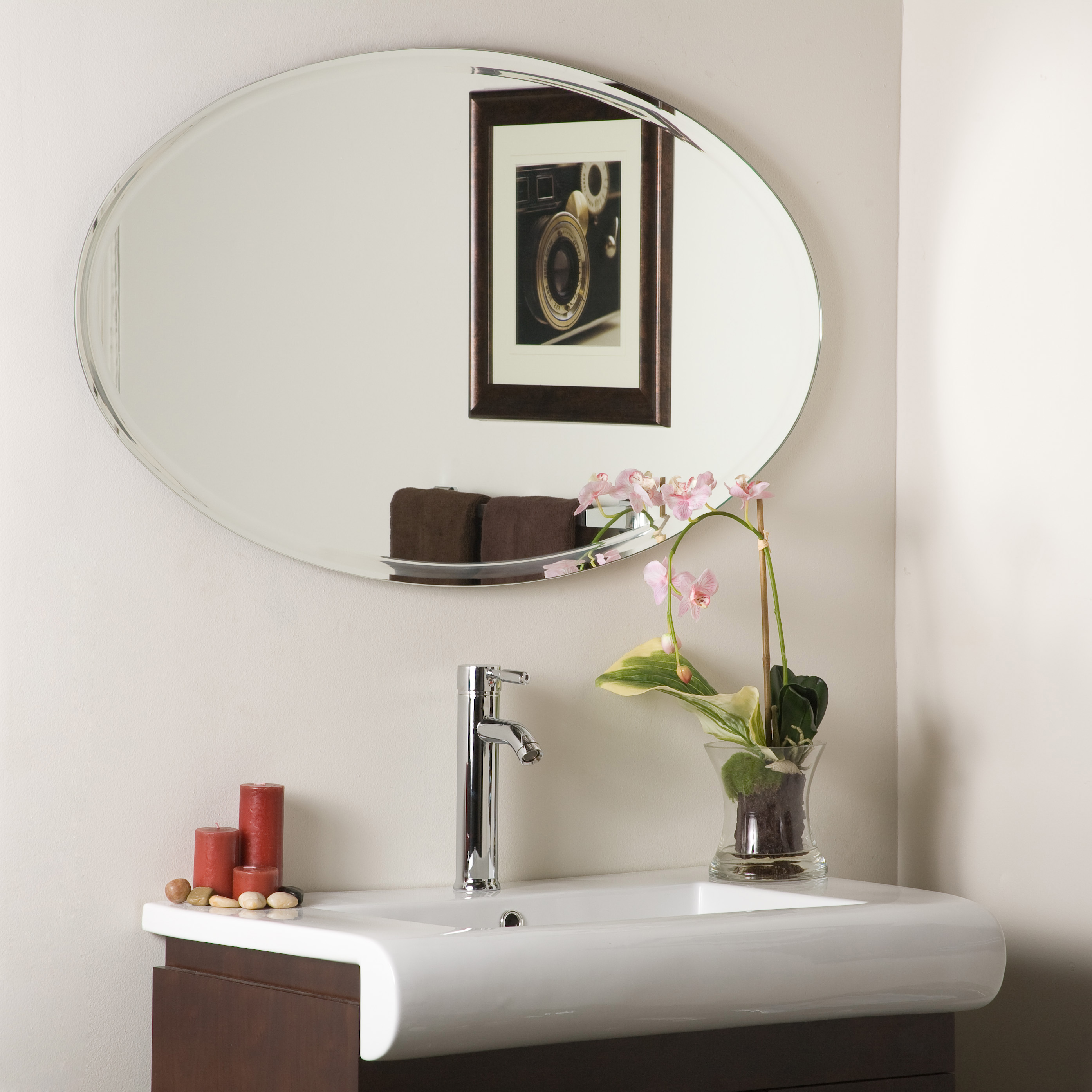 Decor Wonderland Extra 39 2 In Oval Mirror Lowe S Canada