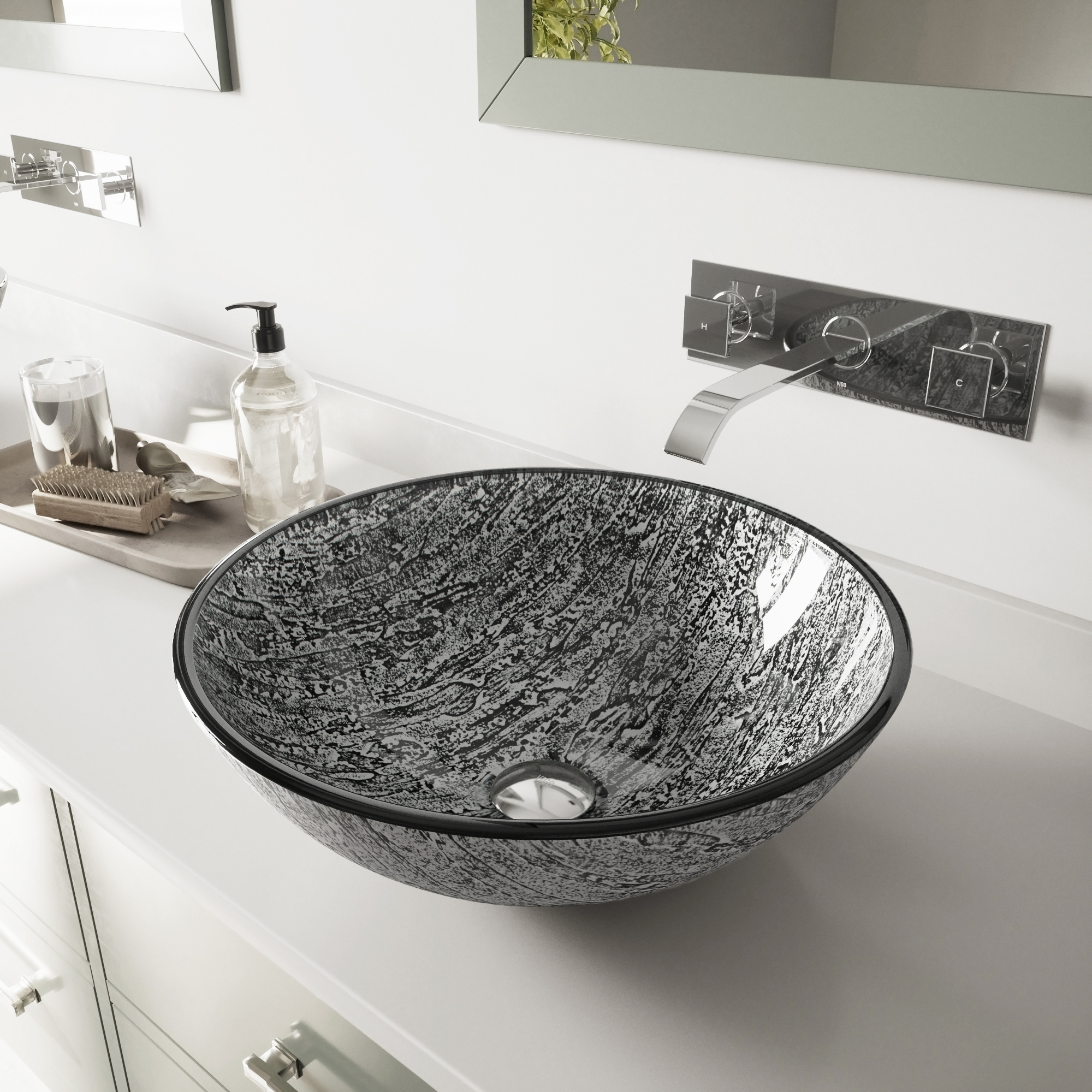 Vigo Titanium Glass Vessel Bathroom Sink With Faucet Lowe S Canada