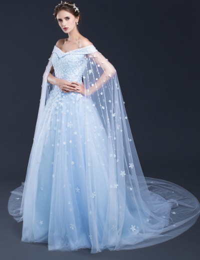 Blue Wedding Dresses,Long Bridal Gowns,Bridal Gowns With ...