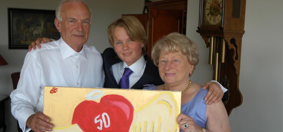 Opa en oma 50 jaar getrouwd 2004 daan theeuwes - Schilderij kamer jongen jaar ...