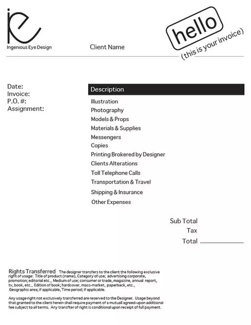 how to make a freelance invoice
