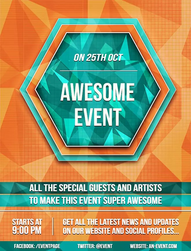 Create a Bright Geometric Event Flyer in Photoshop \u2014 SitePoint