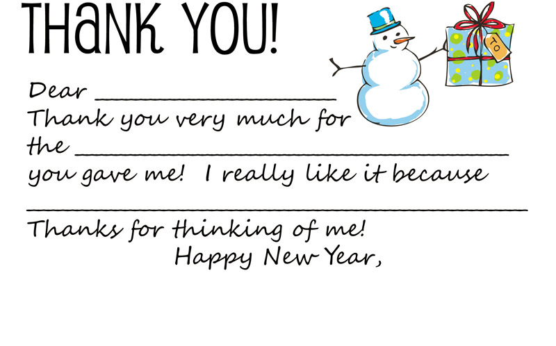 Download Printable Holiday Thank You Note Template for Kids \u2013 Dabbled