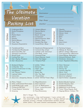 The Ultimate Vacation Packing List - Dabbles  Babbles