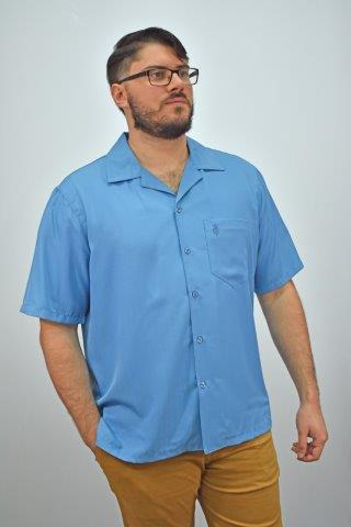 D'Accord short sleeve blue casual shirt