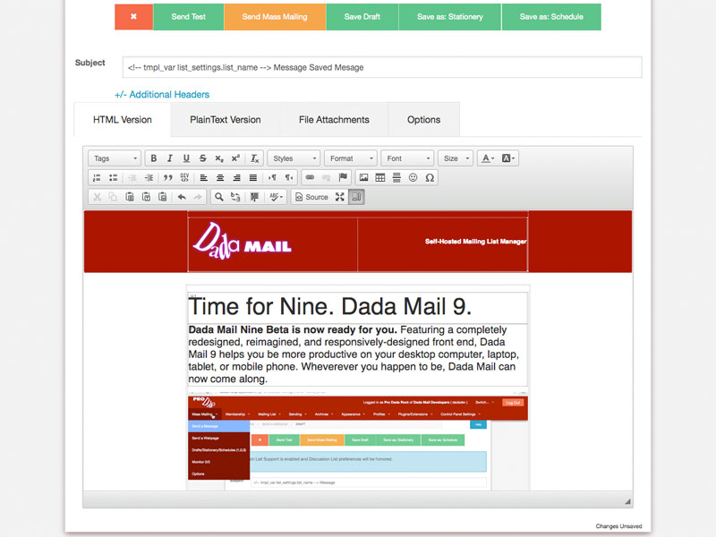 Dada Mail - Self Hosted, Easy to Use Email Marketing Mailing List