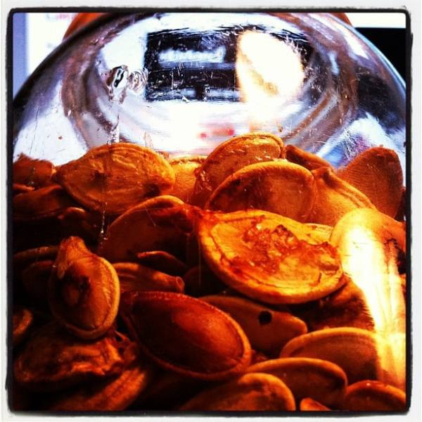 How to roast pumpkin seeds - mmmm