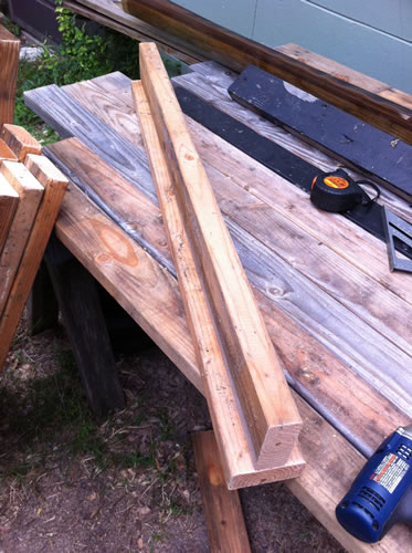 Form the spine of your sawhorse