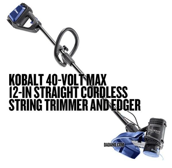 Kobalt 40-Volt Max 12-in Straight Cordless String Trimmer and Edger