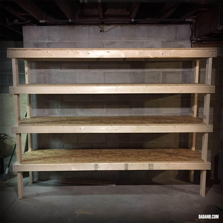 Car Lift To Basement Garage Diy 2x4 Shelving For Garage Or Basement Dadand
