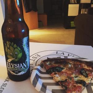Dinner time! Pizza optional beer beerstagram elysianbrewing