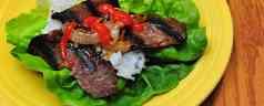 Korean Grilled Beef Lettuce Wraps (Bulgogi)