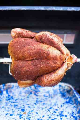 Rotisserie Chicken with Tex-Mex Rub | DadCooksDinner.com