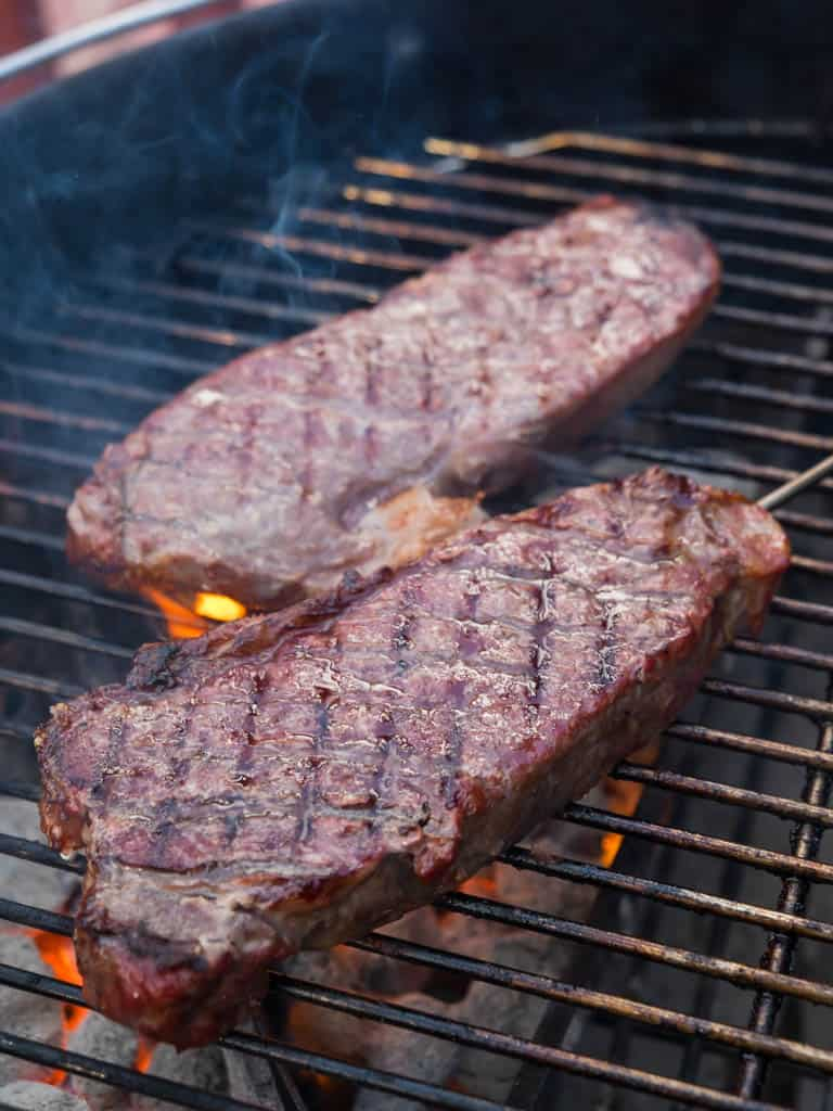 grilling thick strip steaks