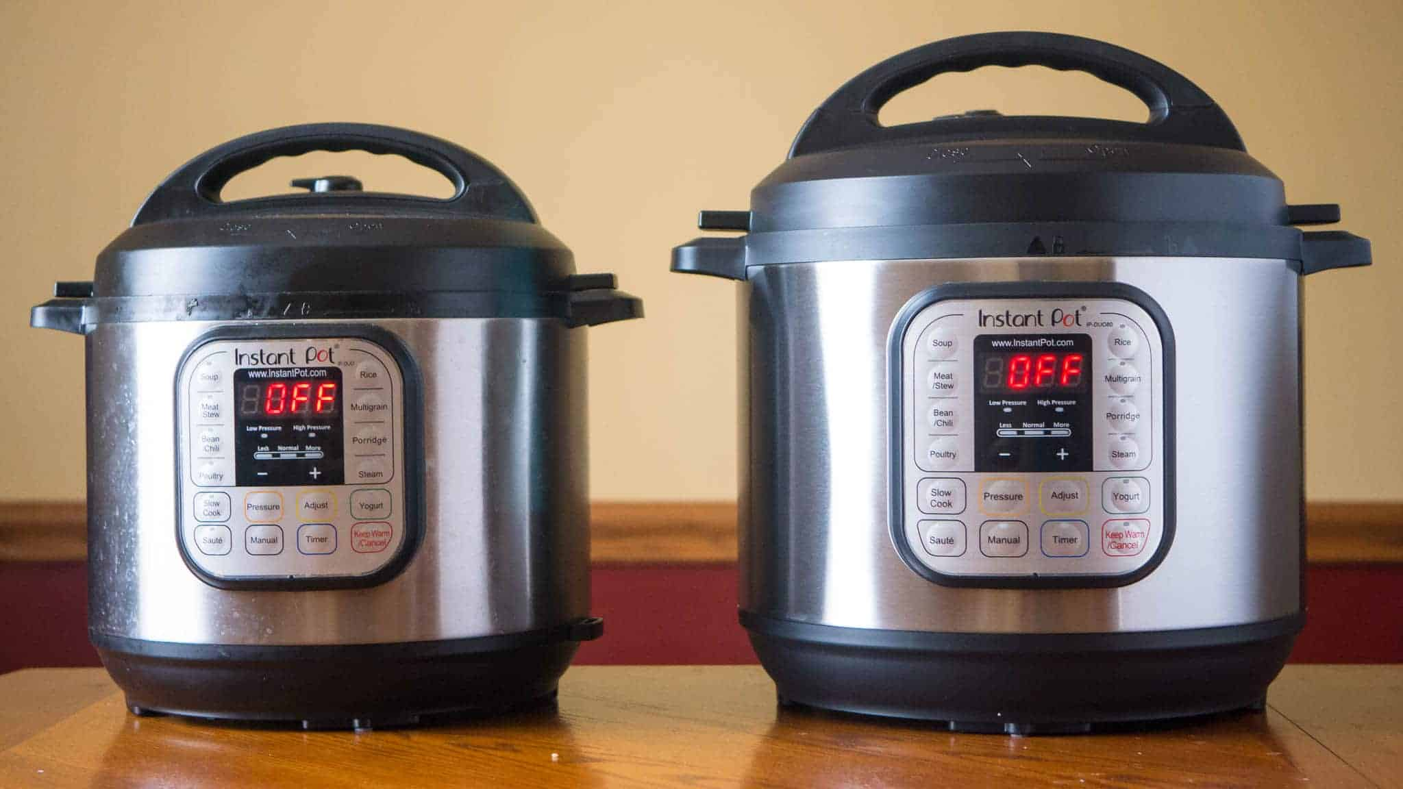Big W Pressure Cooker Longer Term Testing Notes Instant Pot Duo60 Vs Duo80 Dadcooksdinner